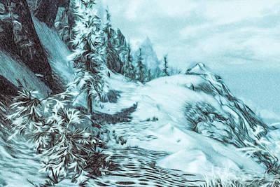 Rage Of The Winter Art Print by Andrea Mazzocchetti