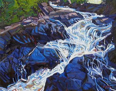 Ipap Painting - Ragged Falls  by Phil Chadwick