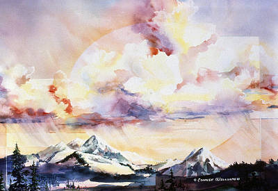 Painting - Ragged Mountains Sunset by Connie Williams