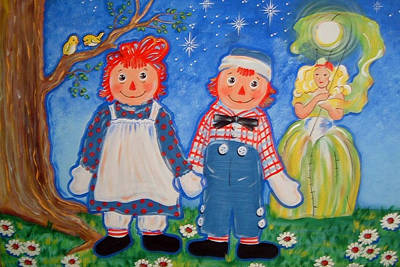 Raggedy Ann Painting - Raggedy Ann And Andy by Theresa Stites