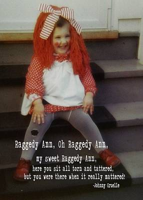 Raggedy Ann Quote Art Print by JAMART Photography