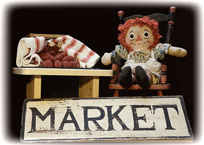 Photograph - Raggedy Ann Selling Raspberries by Pamela Walton