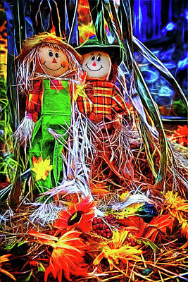 Photograph - Raggedy Scarecrows Ann And Andy by John Haldane