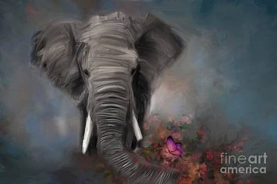 Wall Art - Painting - Raggy Baggy Ellie by Julie Clyde