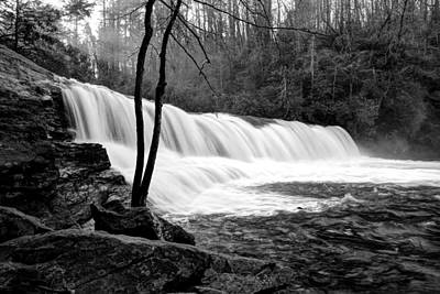 Photograph - Raging Hooker Falls In Black And White by Carol Montoya