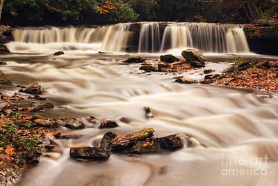 Photograph - Raging Mash Fork Falls by Mel Petrey