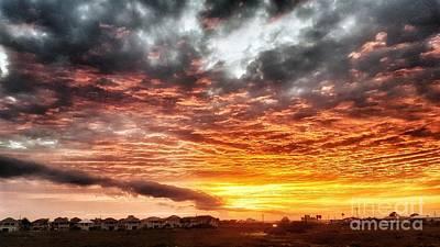 Raging Sunset Art Print