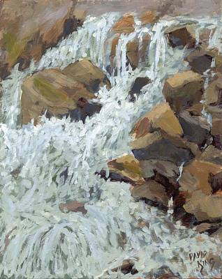 Painting - Raging Water by David King