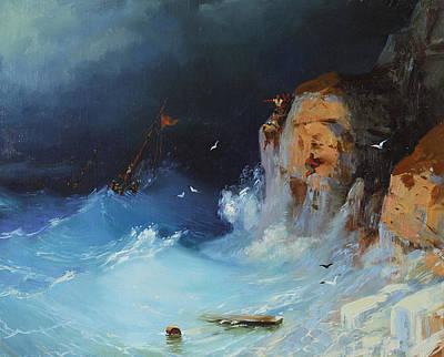 Painting - Escape Of The Raging Waves by Ilya Kondrashov