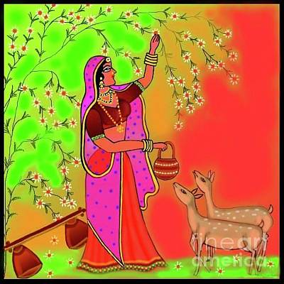 Digital Art - Ragini-todi by Latha Gokuldas Panicker