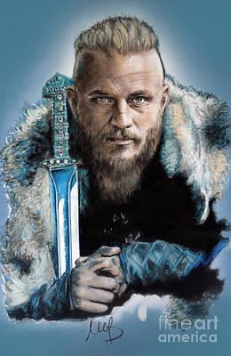Ragnar Lothbrok Art Print by Melanie D