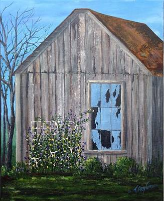 Painting - Rags, Sweet Peas And Time by T Fry-Green