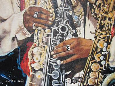 Painting - Rahsaan Roland Kirk- Jazz by Sigrid Tune