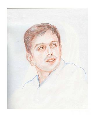 Rahul Dravid  Indian Cricketer Art Print
