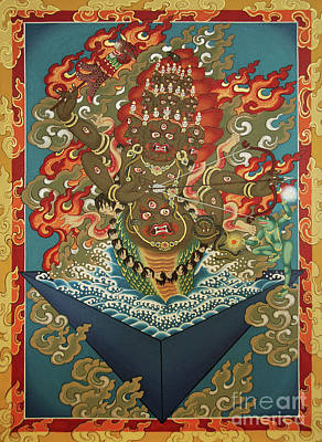 Thangka Painting - Rahula by Sergey Noskov