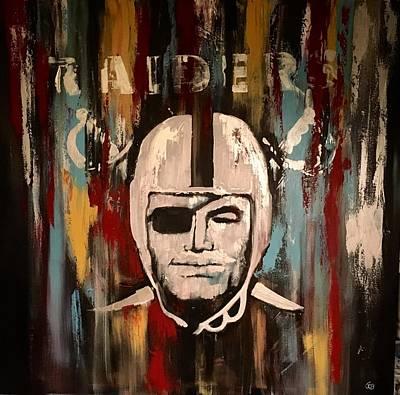 Oakland Raiders Painting - Raider Bliss by Joe Bracco