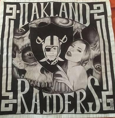 Oakland Raiders Drawing - Raiders by Cindy Spain