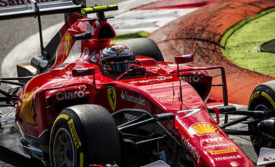 Sauber Photograph - Raikkonen Ferrari 1 by Srdjan Petrovic