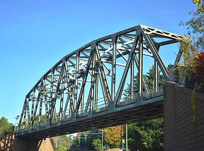 Photograph - Rail Bridge In Middletown 1 by Nina Kindred