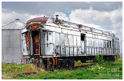 Digital Art - Rail Car by Deborah Nakano