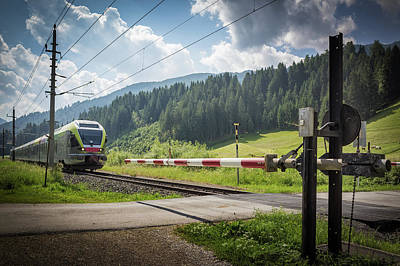 Photograph - Rail Crossing by Alfio Finocchiaro