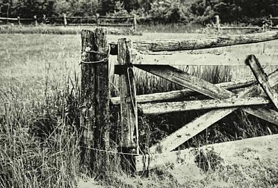 Rail Fence Art Print by JAMART Photography