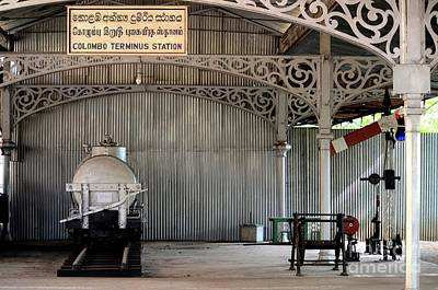 Photograph - Rail Items Including Wagon And Semaphore Signal Exhibit National Railway Museum Colombo Sri Lanka by Imran Ahmed