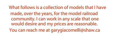 Model Mixed Media - Rail Models By Gary Giacomelli by Gary Giacomelli