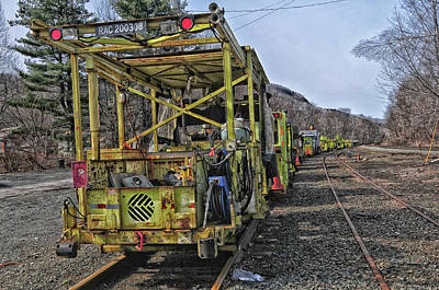 Photograph - Rail Restoration Project by Mike Martin
