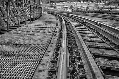 Photograph - Rail Road Crossing by Amber Kresge