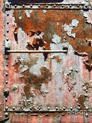 Photograph - Rail Rust - Abstract - Make It Pink by Janine Riley