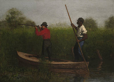 Painting - Rail Shooting On The Delaware by Thomas Eakins