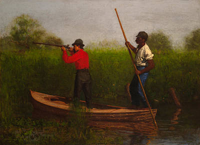 Negro Painting - Rail Shooting On The Delaware by Mountain Dreams