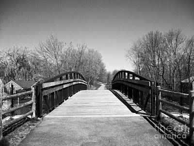 Photograph - Rail Trail Bridge, Newburyport, Massachusetts by Lita Kelley