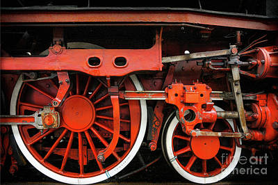 Photograph - Rail Wheel Detail,  Steam Locomotive 02 by Daliana Pacuraru