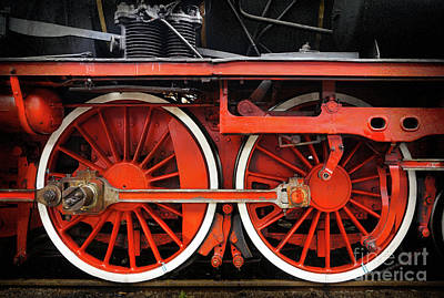 Photograph - Rail Wheel Detail,  Steam Locomotive 01 by Daliana Pacuraru