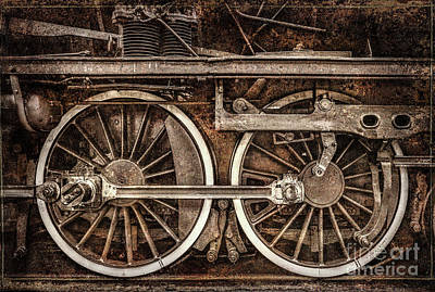 Photograph - Rail Wheel Grunge Detail,  Steam Locomotive 04 by Daliana Pacuraru