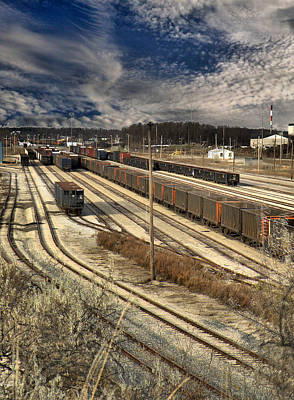 Photograph - Rail Yard 1 by Scott Hovind