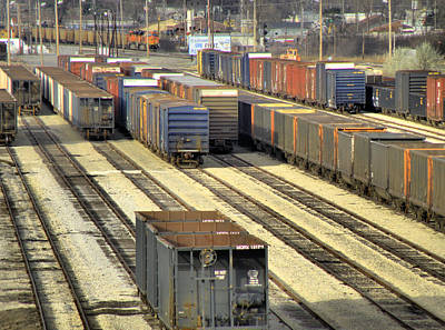 Photograph - Rail Yard 2 by Scott Hovind