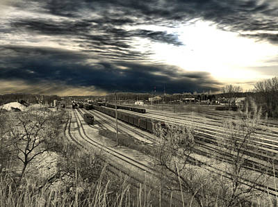 Photograph - Rail Yard 4 by Scott Hovind