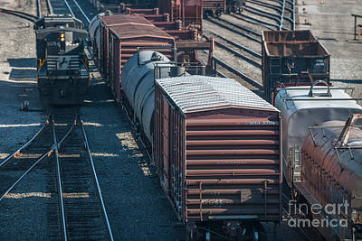 Photograph - Rail Yard by Dale Powell