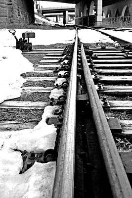 Photograph - Rail Yard Switch by David Ralph Johnson