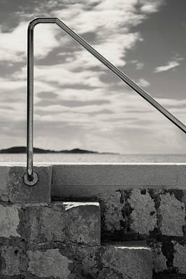 Photograph - Railing by Dave Bowman