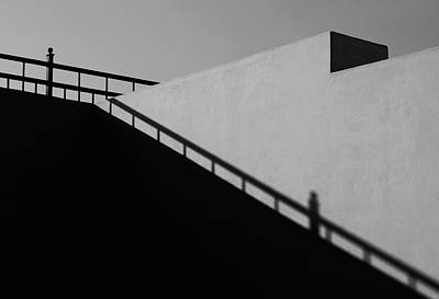 Photograph - Railing Shadow Minimal by Prakash Ghai