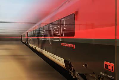 Railjet High Speed Train Art Print