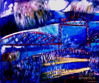 Railroad Brdige  Art Print by Angelina Marino