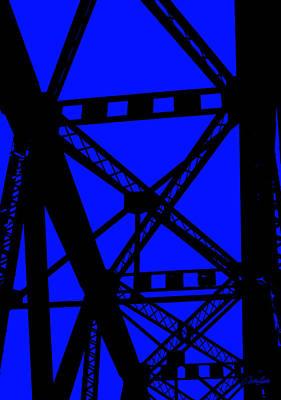 Photograph - Railroad Bridge Beams by Nathan Little