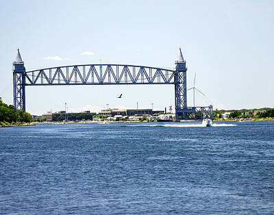 Photograph - Railroad Bridge  Cape Cod Canal by Mark Wiley