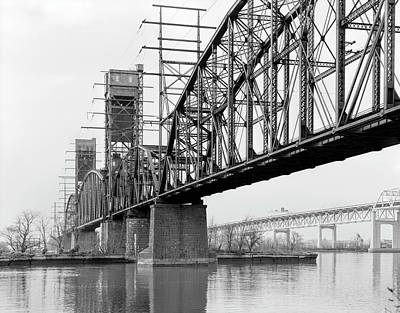 Photograph - Railroad Bridge - Delaware River - Philadelphia by Daniel Hagerman