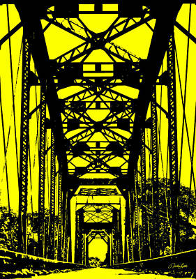Photograph - Railroad Bridge In Yellow by Nathan Little